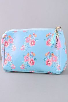 Blue Floral Makeup Bag - MUB061BL 59749b3d9050c