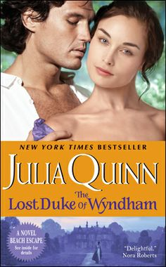 The Lost Duke of Wyndham by Julia Quinn. I just started this. I needed some regency hijinks and who better than Julia Quinn!