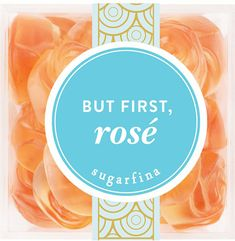 The Sugarfina Rosé Gummy Candy are shaped in tiny delicate rosettes and soaked in Rosé wine. The imported candy is an all natural treat that will please any Rosé drinker. Online Candy Store, Candy Packaging, Wine Brands, Small Rose, Non Alcoholic, At Home Workouts, Dessert Recipes, Desserts, Food And Drink