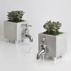 HOBBY:DESIGN diy cement planters