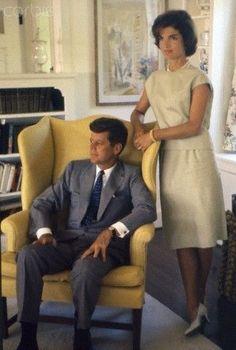 Senator and Mrs. John F. Kennedy, Hyannis Port MA, 1959.