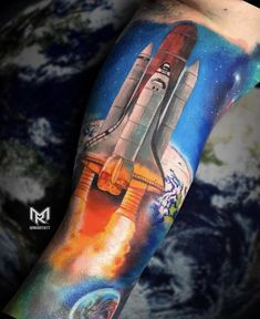 My Space Shuttle Tattoo to finish off my sleeve. By Maddalena Ruggiero @ Bamboo Tattoo Studio Toronto Black Sleeve Tattoo, Sleeve Tattoos, Tap Shoes, Dance Shoes, Bamboo Tattoo, Knee Tattoo, Finish Off, Bamboo Crafts, Space Shuttle
