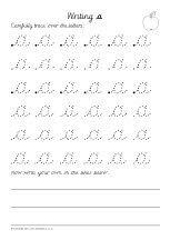 teacher 39 s pet editable dotted cursive letter formation. Black Bedroom Furniture Sets. Home Design Ideas