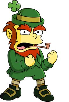 Leprechaun Shamrock Pictures, HD Images, Coloring Pages, Clip art Looking for Leprechaun Shamrock HD Images then you come at correct place to get Free Leprechaun Shamrock Pictures & Images 2018 The Simpsons, Simpsons T Shirt, Homer Simpson, Simpsons Tattoo, Shamrock Pictures, Leprechaun Story, Simpsons Characters, Kobold, Futurama