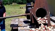 Wood Chunker at Earlton steam and Antique show 2013 VIDEO0116