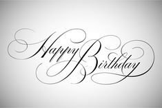 Birthday Quotes : Happy Birthday Lettering by vatesdesign on Creative Market Copperplate Calligraphy, How To Write Calligraphy, Calligraphy Handwriting, Calligraphy Quotes, Calligraphy Letters, Penmanship, Happy Birthday Font, Happy Birthday Calligraphy, Birthday Letters