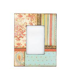 PatchWork Desenli Resim Çerçevesi #evdebir #ev #home #dekor #dekorasyon #dekoratif #decor #decoration #decorative #patchwork #resim #cerceve #picture #frame #design #KateMcRostie