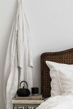 Love the bedlinen from the Swedish interior...
