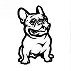 Buy Funny French Bulldog Car Styling Stickers Lovely Classic Animal Decorative Window Decals at Wish - Shopping Made Fun Sierra Leone, Sri Lanka, Car Stickers, Car Decals, Cartoon Stickers, Bulldogge Tattoo, Motorcycle Decals, Dog Car, Stencil