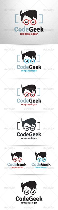 Cool Internet business 2017: Code Geek Logo Template — Vector EPS #fun #geek • Available here → graphic... Game Logo Template Check more at http://sitecost.top/2017/internet-business-2017-code-geek-logo-template-vector-eps-fun-geek-%e2%80%a2-available-here-%e2%86%92-graphic-game-logo-template/