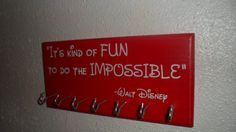 Race Medal Display-Disney by HobbywoodCreations on Etsy