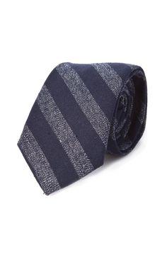 Cultizm.com - Pointed Tie Selvedge Indigo Covert Stripe The Hill-Side Pointed Tie Selvedge Indigo Covert Stripe PT1-175