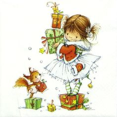 4 xSingle Luxury Paper Napkins for Decoupage Craft Little Christmas Princess   eBay