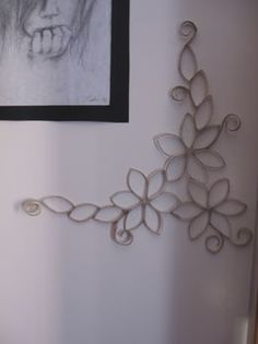 toilet paper roll wall art