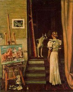 paris studio de l' artiste - (Giorgio De Chirico)