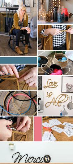 Le Petit Florilège - mots crochets Crochet I Cord, Crochet Home, Diy Crochet, Crafts For Seniors, Crafts For Teens, Wire Crafts, Diy And Crafts, Craft Wedding, Wire Art