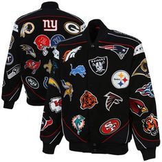 NFL Collage Twill Jacket - Black