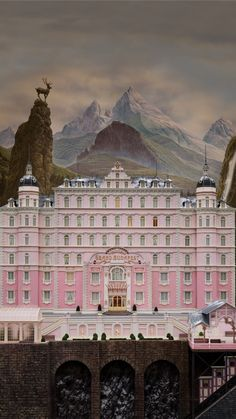 The Grand Budapest Hotel By Wes Anderson. Wes Anderson Style, Wes Anderson Movies, Wes Anderson Poster, Grande Hotel, I Love Cinema, Moonrise Kingdom, Movie Shots, Movie Wallpapers, Phone Wallpapers