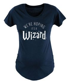 Another great find on #zulily! Navy \'Hoping Its A Wizard\' Maternity Crewneck Tee #zulilyfinds