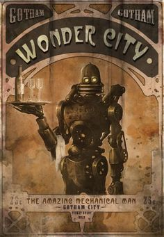Batman Arkham City Wonder City fan made poster
