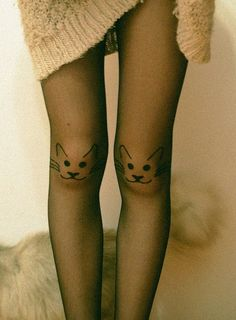 cat tights - Forghani Forghani Forghani Williams you need these! Twiggy, Cat Tights, Cat Leggings, Photo Portrait, Looks Street Style, Crazy Cat Lady, At Least, Style Me, How To Make