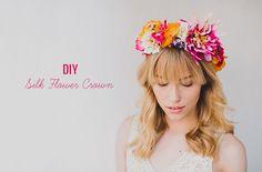 DIY silk floral crown