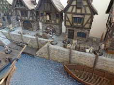 cianty's Tabletop Wargames Blog: The Port of Gierburg - Part 3: Dock Section I Painted & Extras