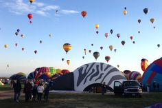 Every October, the International Balloon Fiesta lights the skies of New Mexico afire with gorgeous hot air balloons.