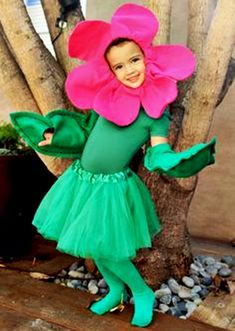 Ideas Flowers Girl Costume Halloween For 2019 Costume Fleur, Rose Costume, Flower Costume, Costume Halloween, Halloween Costumes For Girls, Halloween Party, Book Costumes, Diy Costumes, Dance Costumes