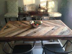 My chevron dining table!