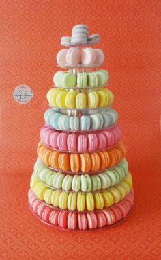 summer macarons tower