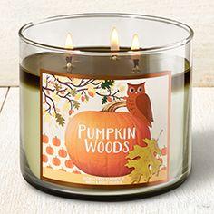 Pumpkin Woods 3-Wick Candle - Home Fragrance 1037181 - Bath & Body Works
