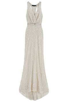 Cutout Back Sequin Gown- WOW, I would love to see this in person.