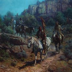 Martin Grelle   Comanche Moon   40x40 Oil on linen   CAA Member since 1995