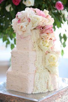 Elegance in Pink wedding cake