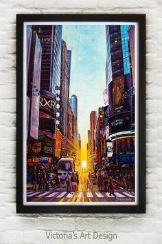 Oil Painting, Original Oil Painting Manhattan New York City Landscape Modern Large Art – Best Office Architecture Oil Painting Background, Oil Painting Flowers, Oil Painting Abstract, Painting Tips, City Landscape, Landscape Paintings, Sunflower Canvas, City Art, Large Art