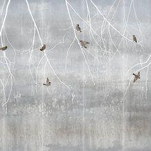 Wall mural - Bohemian Birds - Pale Blue