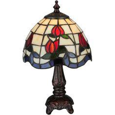 12 Inch H Roseborder Mini Lamp - Custom Made