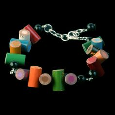 Color Pencil Recycled Jewelry