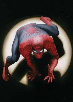 Alex Ross does the Spidey vignette from Marvel Tales. Comic Book Artists, Comic Book Characters, Comic Book Heroes, Marvel Characters, Comic Artist, Comic Books Art, Comics Anime, Comic Manga, Bd Comics