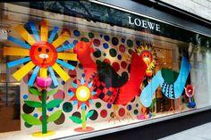 Window Visual Merchandising | VM | Window Display | Loewe summer window
