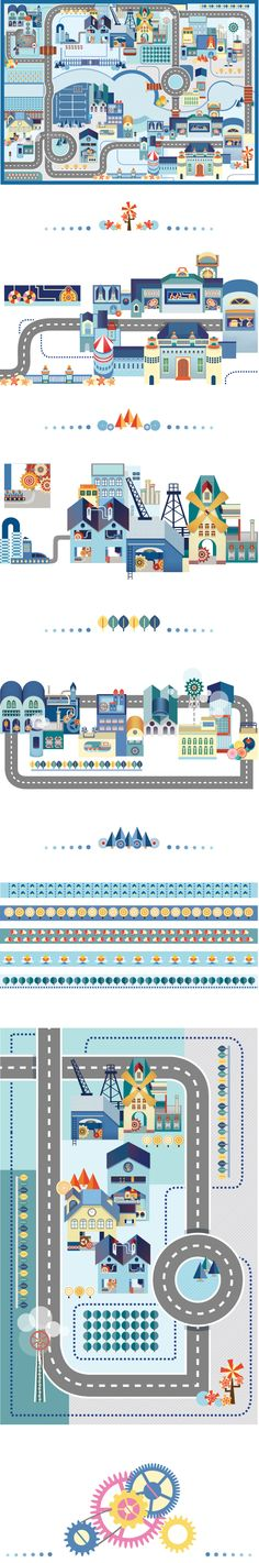 Blue City on Behance