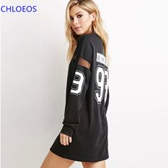 2016 Special Offer Rushed None Natural Regular Summer Baseball Style Long T-shirt Women  Casual Mini Dress Sleeve Dresses