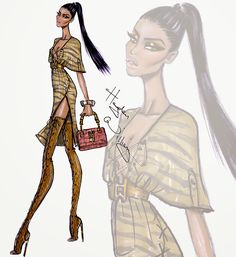 #Hayden Williams Fashion Illustrations #Wildlife Safari by Hayden Williams: Look 2