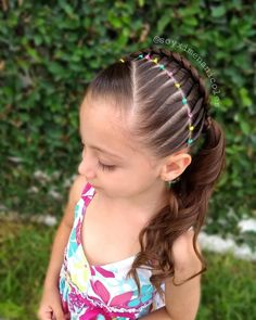Image may contain: one or more people, outdoor and closeup Wavy Hairstyles Tutorial, Braided Hairstyles, Cool Hairstyles, Easy Toddler Hairstyles, Little Girl Hairstyles, Balayage Hair Brunette Caramel, Curly Hair Styles, Natural Hair Styles, Competition Hair