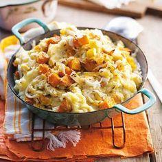 Recept - Pompoenstamppot met appel en kaas - Allerhande