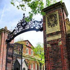 Johnston Gate - entrance to Harvard Yard.