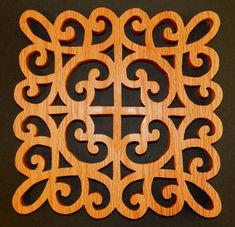 Just Me!: Another Fret Work Trivet Using A Cricut Pattern - Scroll Saw