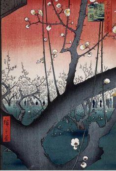 Hiroshige - Prune Orchard Sun 18..