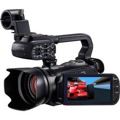 """Canon's newest """"mini-pro"""" video camera.  All the features of a pro camera in a body that fits in your pocket.  At $1899, it's much more affordable than the pro cameras of generations past."""
